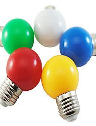 5pcs 1w e27 5xsmd2835 Lampe à bulle à billes de couleur 100-150lm conduit des ampoules (couleur aléatoire)