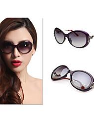 Sunglasses Women's Classic / Elegant / Sports / Fashion / Polarized Round Silver / Brown / Purple Sunglasses Full-Rim
