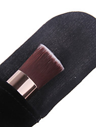 Professional Perfect Multipurpose Angled Foundation Brush With Gift Black flannelette