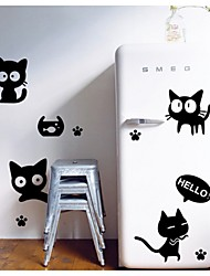 chat noir stickers muraux