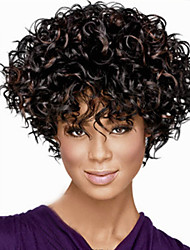 Europe and The High Quality Fashion High Quality High Temperature Synthetic Hair Silk Small Curl Fashion Wig