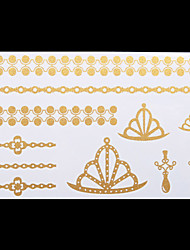 Sex Glitter Gold Jewellery Tattoo Stickers Temporary Tattoos(1 pc)