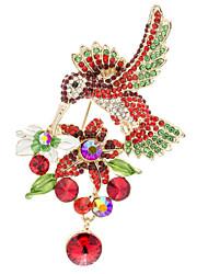 Hummingbird Pecker Brooch Broach Pins Women's Jewelry Rhinestone  (More Colors)