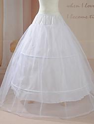 Slips Ball Gown Slip Floor-length/Tea-Length 1 Nylon/Tulle Netting White