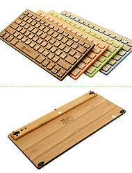 Very Thin /Super Light Green&eco-friendly A4TECH 2.4GHz Wireless with PC Receiver Bamboo Keybord