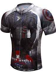 Captain American Tight Fast Drying Cycling T-Shirt Male