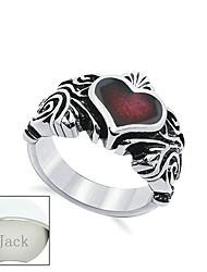 l'acier de titane bijoux de cadeau du jour de père personnalisé l'anneau de adulte argent