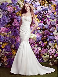 Lanting Bride Lanting Trumpet/Mermaid Wedding Dress - Ivory Court Train Strapless Satin