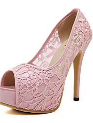 Women's Shoes Lace Stiletto Heel Peep Toe Sandals Dress More Colors available