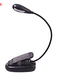 4pcs 2leds luz de cor branca lâmpada de leitura luz noite