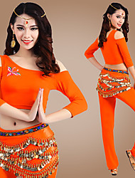 FANSHU Belly Dance Outfits Women's Performance Modal Embroidery 3 Pieces