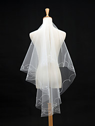 Wedding Veil One-tier Elbow Veils Applique Edge