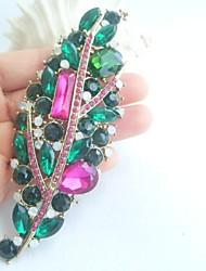 Women Accessories Gold-tone Multicolor Rhinestone Crystal Brooch Art Deco Brooch Bouquet Women Jewelry