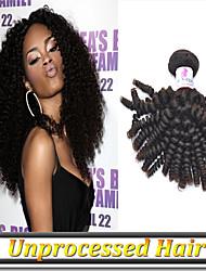 3pcs 8 '' - 34''no excrétion enchevêtrement vierge de cheveux naturelle russe spirale de couleur noire remy cheveux bouclés trame libre