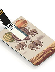 64GB Fire Balloon and Elephant Design Pattern Card USB Flash Drive