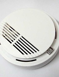 Wireless Cordless Smoke Fire Sensor Detector White Home Security Alarm System