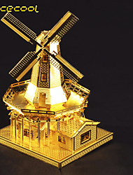 Holland windmill 3D solid metal DIY building model toy jigsaw puzzle adult