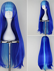 Happy Tree Friends Petunia Girl's Long Straight Blue Color Anime Cosplay Wig