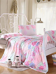 Voll pink floral Sommer Quilts tencel Queen-Size-