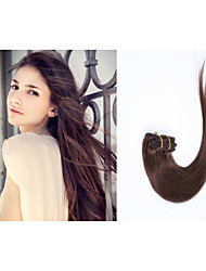 8pcs / lot 18inch / 45cm 110g / pack múltiples opciones de color del clip en la extensión del pelo recto grade5a extensión del pelo humano