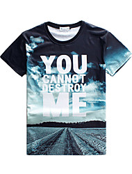 X-Man Men Floral Print Causual Fashion Short Sleeve T-shirt