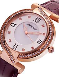 SINOBI  Watch Women's Leather Quartz Wrist Watch