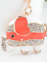 Elephant Rhinestone Wedding Keychain Favor