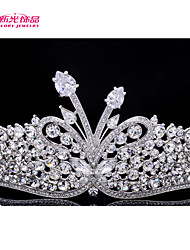 Neoglory Jewelry Clear Austrian Rhinestone Tiara Crown Hair Accessories for Lady Wedding Pageant