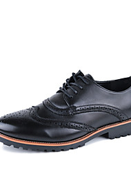 Men's Shoes Wedding/Office & Career/Casual Leather Oxfords Black/Brown/White