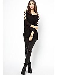 Damen T-Shirt Strickware Langarm