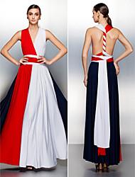 Convertible Dress Floor-length Jersey A-line Evening Dress (2519754)