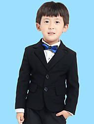 Black Serge Ring Bearer Suit - 5 Pieces