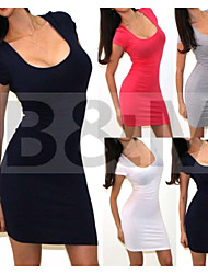Women's Casual Round Sleeveless Dresses (Acrylic/Lace)
