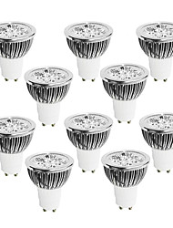 GU10 LED Spotlight 4 High Power LED 400-450 lm Warm White Cool White Natural White Dimmable AC 220-240 V 10 pcs