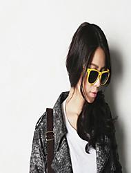 Sunglasses Women's Fashion Rectangle White / Yellow / Pink Sunglasses Full-Rim