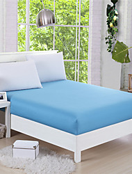 Water Blue Foam Mattress Cover Fitted Sheet King Queen Size