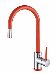 Warpeu® Contemprorary Painting Single Handle Deck Mounted Kitchen Faucet