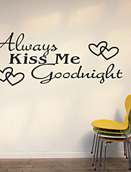 WOW!STickeRs Black Always Kiss Me Goodnight Wall Decal Sticker Home Ar