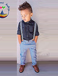 Boy's Cotton Blend Jeans / Clothing Set,All Seasons Solid