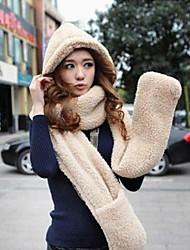 Women Knitwear Scarf, Hat & Glove Set , Cute/Casual