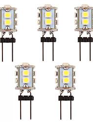 5Pcs G4 3W 10x2835SMD 210LM 5500-6500K Cool White Light LED Corn Bulb  (12V)