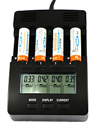 "FT2000  4-Slot 2.9"" LCD Screen Multifunction Smart Digital Battery Charger for Ni-MH / NiCd / AA / AAA"
