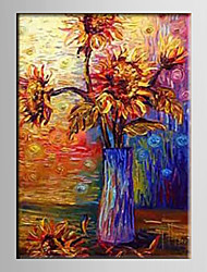 Oil Painting  Decoration Hand Painted Canvas Floral Stretched Framed S/M/X/XL