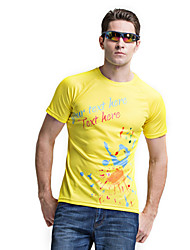 FORIDER® Casual Wear Short Sleeved T-shirt Riding Fast Dry T-shirt Men Riding Sportswear Yellow
