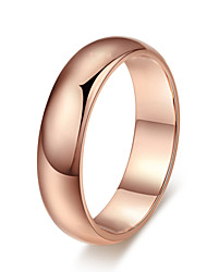 T&C Women's High Quality Top Class 18K Rose Gold Plated High Polish Wedding Band Ring