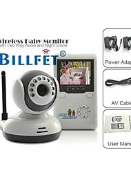 Baby Monitor 2.4GHz kits baba noite sem fio visão babá duas vias de intercomunicação falando monitores de segurança para as crianças