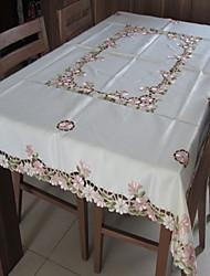 klassieke witte geborduurde tafelkleden rechthoek (grootte: 130cmx180cm)