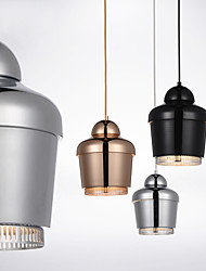 Pendant Lamp/1 Light/Modern Simplicity/Golden/Chrome/Black/White/Carbon Steel/Metal/Chandelier