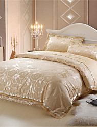 Yuxin®Silk Jacquard 4 Piece Textile Cotton Quilt Bedding Wedding Bedding Set