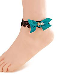 mulheres moda jóias corpo praia verão encanto estilo gótico do vintage do laço ocasional tornozeleiras arco pérola